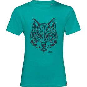 Jack Wolfskin Brand Koszulka Dzieci, green ocean
